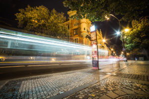 Light Night Traffic in the City